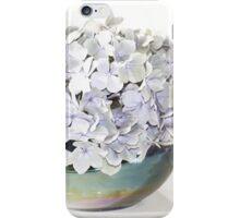 Blue wilt Hydrangea flower in vase iPhone Case/Skin