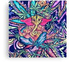 Psychedelic Lord Ganesha  Canvas Print