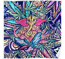 Psychedelic Lord Ganesha  Poster