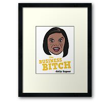 The Business Bitch - Kelly Kapoor Framed Print