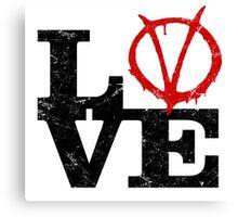 LoVe V for Vendetta Canvas Print