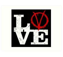 LoVe V for Vendetta Art Print