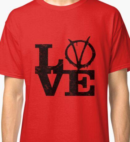 LoVe V for Vendetta Classic T-Shirt