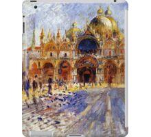 5 Piazza San Marco in Venice by Pierre Auguste Renoir iPad Case/Skin