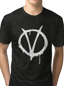 V for Vendetta Vintage Symbol Tri-blend T-Shirt