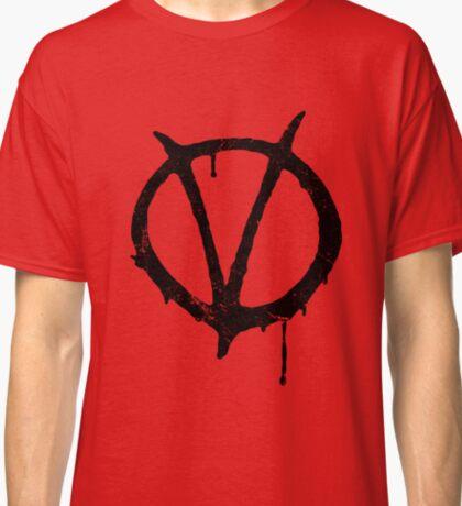 V for Vendetta Vintage Symbol Classic T-Shirt
