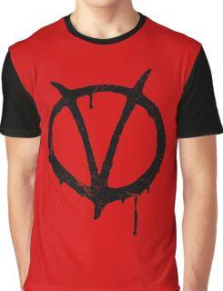 V for Vendetta Vintage Symbol Graphic T-Shirt