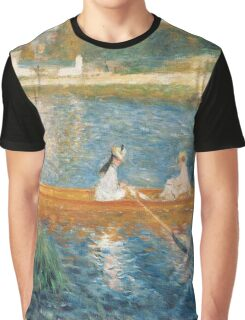 Boating On the Seine by Pierre Auguste Renoir  Graphic T-Shirt