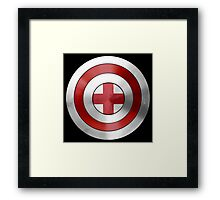 CAPTAIN ENGLAND - Captain America inspired English shield Framed Print