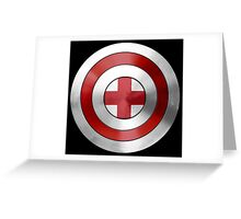 CAPTAIN ENGLAND - Captain America inspired English shield Greeting Card
