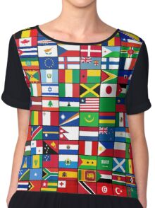 The World's Flags Chiffon Top