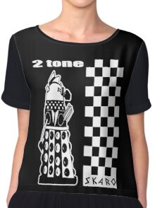 Two Tone Dalek Women's Chiffon Top