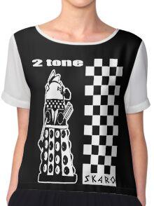 Two Tone Dalek Women's Chiffon Top