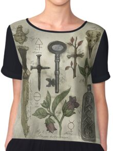 (Super)natural History - Hunter's artefacts Chiffon Top