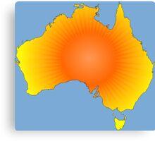 Sunny Australia Map Canvas Print