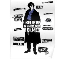 Detective Quotes - i believe in sherlock holmes Poster