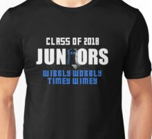 Juniors Whovians. Class of 2018. Wibbly Wobbly. Unisex T-Shirt