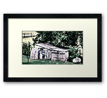 """The Bowling Shack""... prints and products Framed Print"