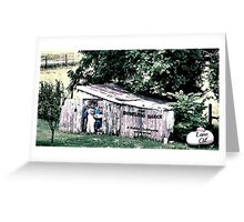 """The Bowling Shack""... prints and products Greeting Card"