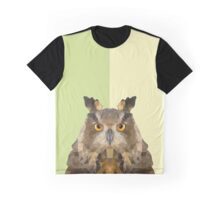 LowPoly- Owl Graphic T-Shirt
