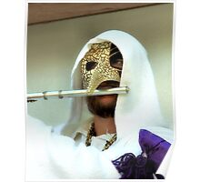 Flutist With Mask Poster
