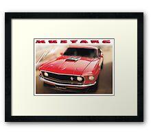 Mustang © White Border  Framed Print