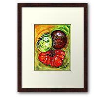 Trois tomates Framed Print