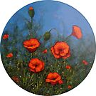 Red Poppies: Painting of Red Poppy Flowers, Flower Art by Joyce Geleynse