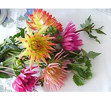 Dahlia bouquet Photographic Print