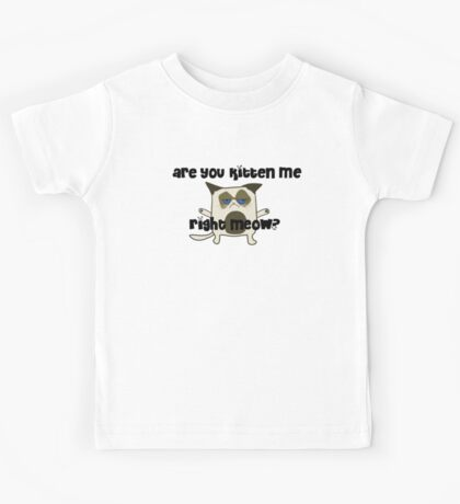 Are You Kitten Me?  Kids Tee