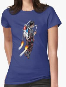 Jetpack Man Womens Fitted T-Shirt