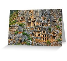 The Necropolis of Ancient Myra - Lycia, Turkey Greeting Card