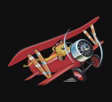 Cartoon biplane One Piece - Short Sleeve