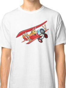 Cartoon biplane Classic T-Shirt