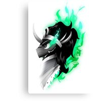 King Sombra - Green Canvas Print
