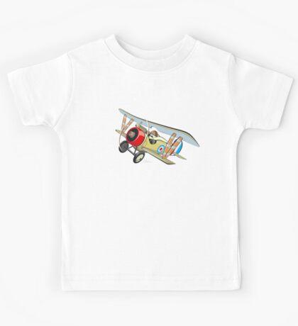 Cartoon biplane Kids Tee