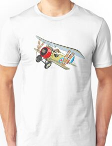 Cartoon biplane Unisex T-Shirt
