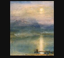 Moonlight on Lake Lucerne with the Rigi in the Distance by William Turner Unisex T-Shirt