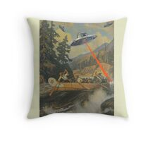 When Explorers Collide Throw Pillow