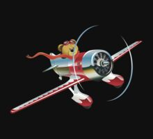 Cartoon retro airplane One Piece - Short Sleeve