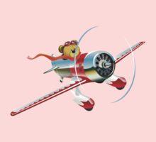 Cartoon retro airplane Kids Tee
