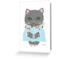 Chic Cat Greeting Card