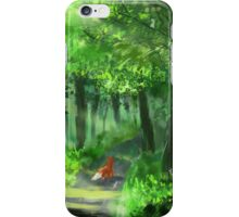 Cute Red Fox Walking Through the Woods iPhone Case/Skin