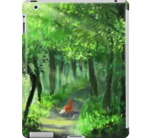 Cute Red Fox Walking Through the Woods iPad Case/Skin