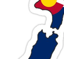 Colorado flag New Zealand outline Sticker
