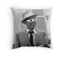 Sinatra - 3D Glasses Throw Pillow