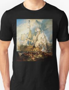 The Battle of Trafalgar (1822) by JMW Turner Unisex T-Shirt
