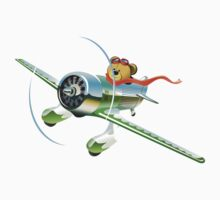 Cartoon racing airplane Kids Tee