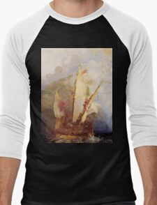 Ulysses Deriding Polyphemus (1829) by JMW Turner Men's Baseball ¾ T-Shirt