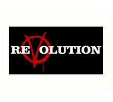 ReVolution V for Vendetta Art Print